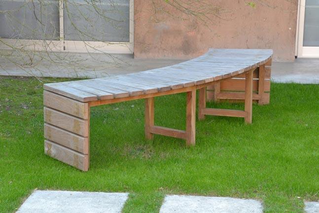 Stewart murray banco curvo en lapacho madera y jardin - Banco madera jardin ...